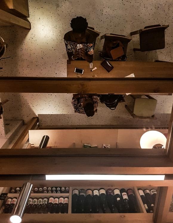 Miroir au plafond